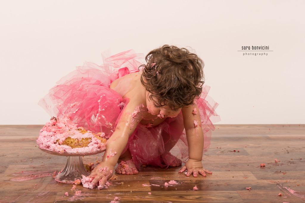 smash cake | alice 1 anno_fotografo bambini a rimini _Sara Bonvicini-1