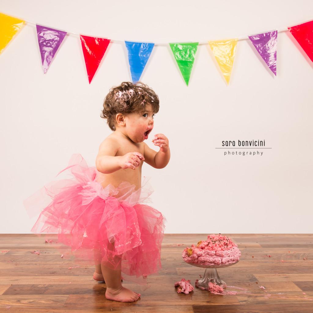 smash cake   alice 1 anno_fotografo bambini a rimini _Sara Bonvicini 18