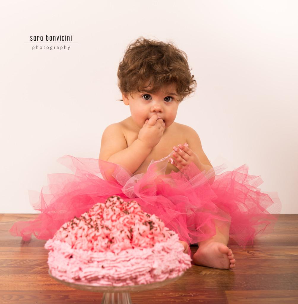 smash cake   alice 1 anno_fotografo bambini a rimini _Sara Bonvicini 5