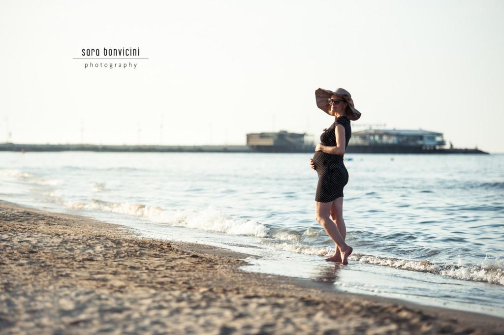 Lara | 32° settimana_foto Sara Bonvicini-20  Foto Gravidanza Rimini Maternity Mare Tramonto