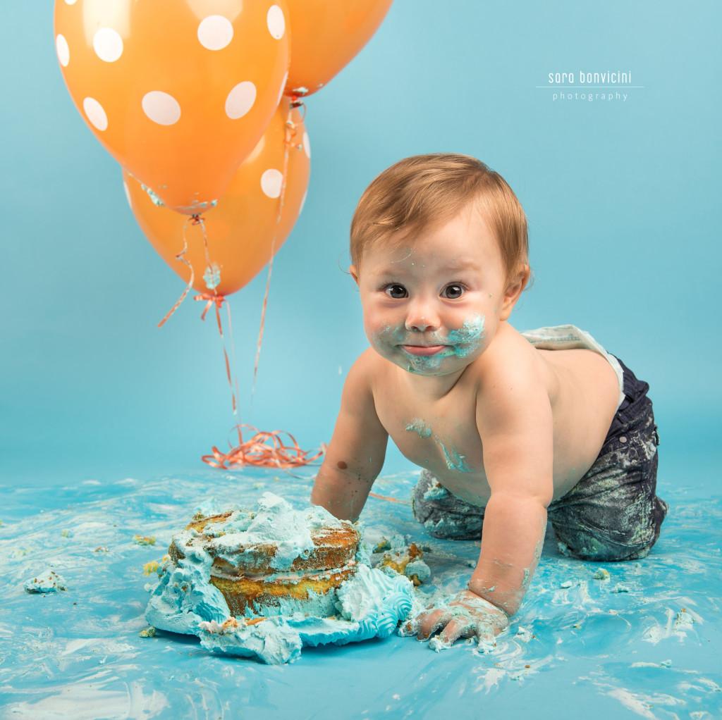 Smash Cake Rimini fotografo primo compleanno 12