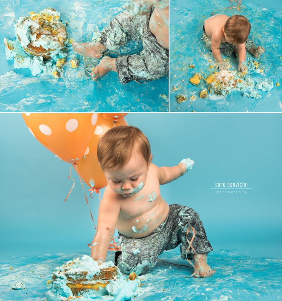 Smash Cake Rimini fotografo primo compleanno 14