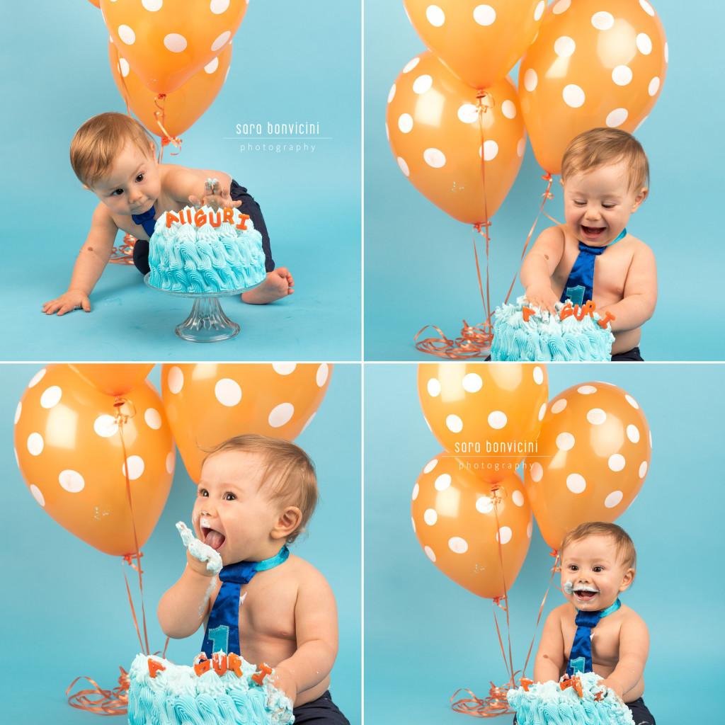 Smash Cake Rimini fotografo primo compleanno 3