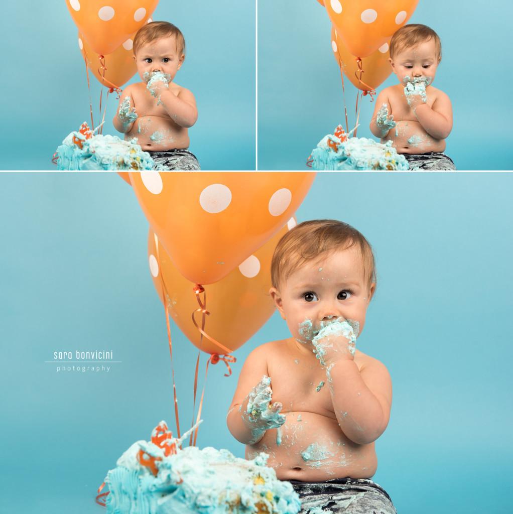 Smash Cake Rimini fotografo primo compleanno 8