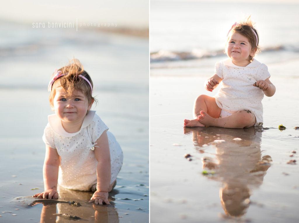 bimbi fotografati al mare
