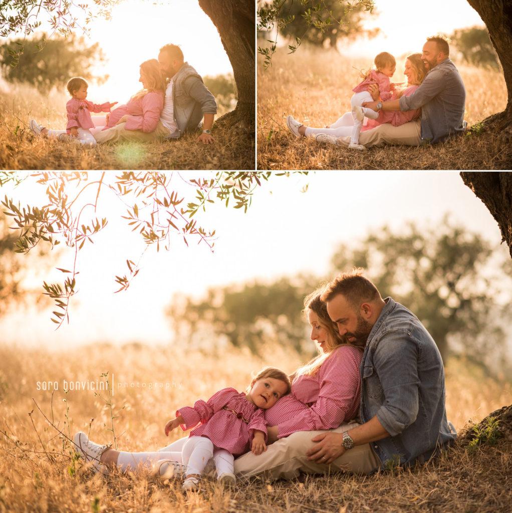 foto di famiglia in gravidanza