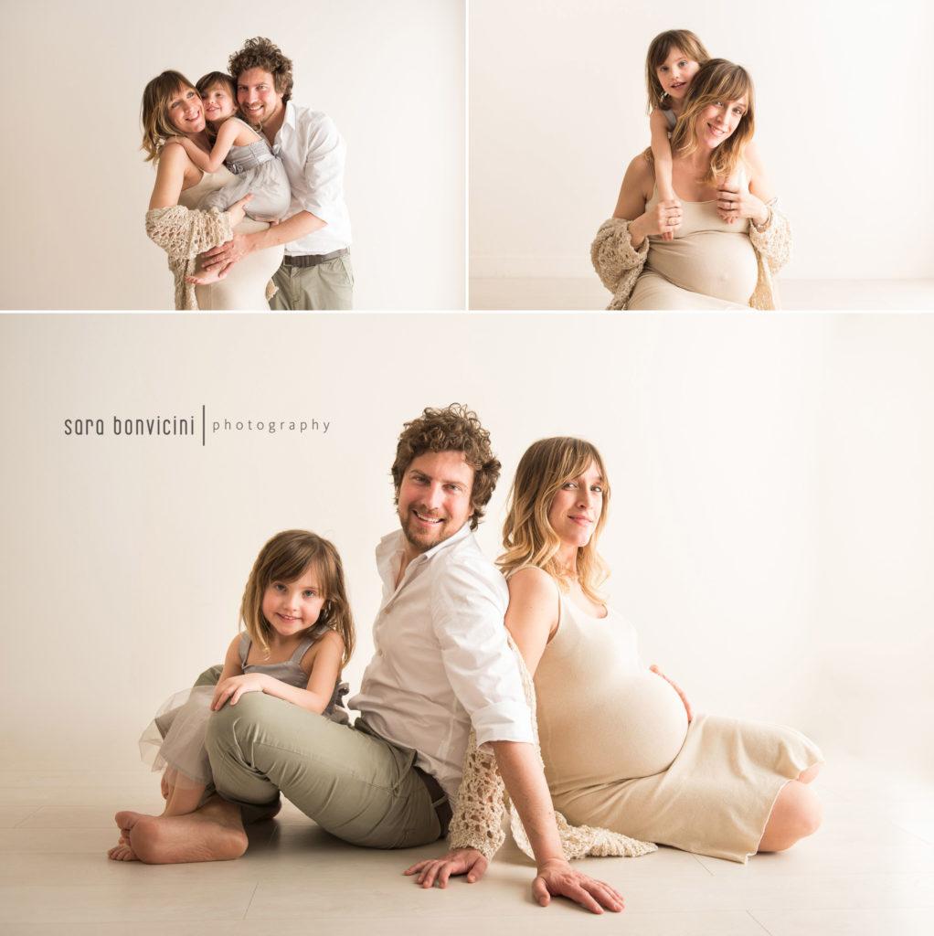 sentirsi bella nelle foto in gravidanza con tutta la famiglia