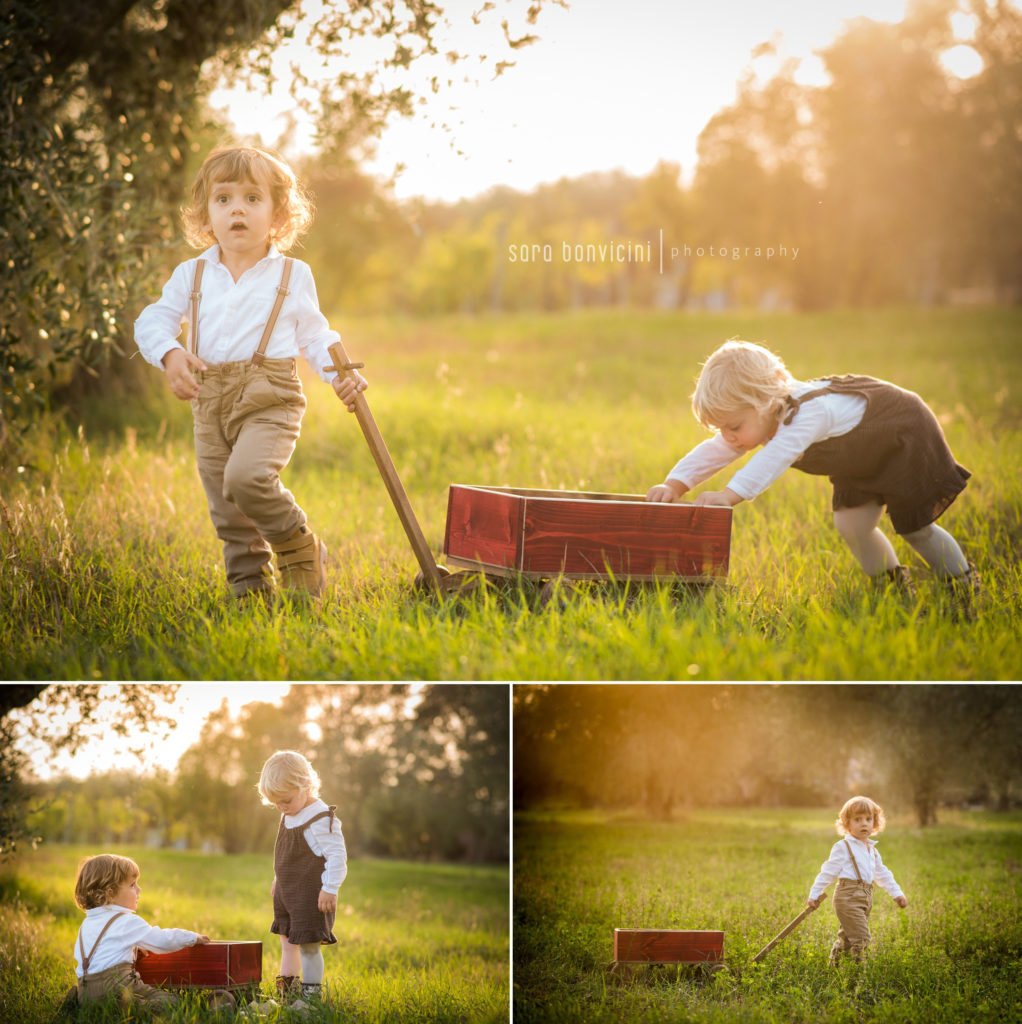 servizi fotografici all'aperto con i bambini