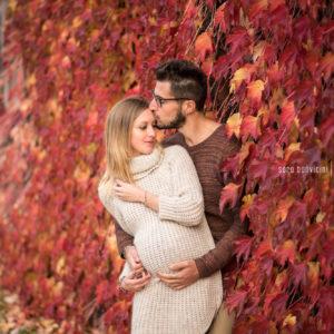 foto spontanee gravidanza Rimini in autunno